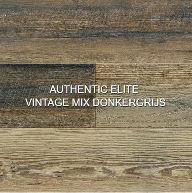 Authentic elite vintage mix donkergrijs