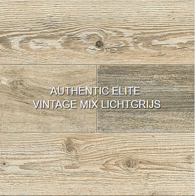 Authentic elite vintage mix lichtgrijs